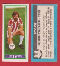 Stoke City Brendan O`Callagham 99